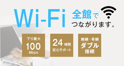 Wi-Fi 全館でつながります